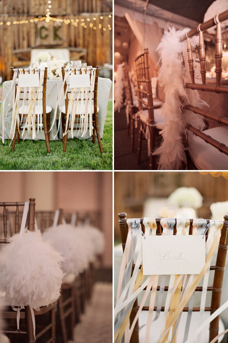 pretty wedding chairs creative ceremony reception decor inspiration 2