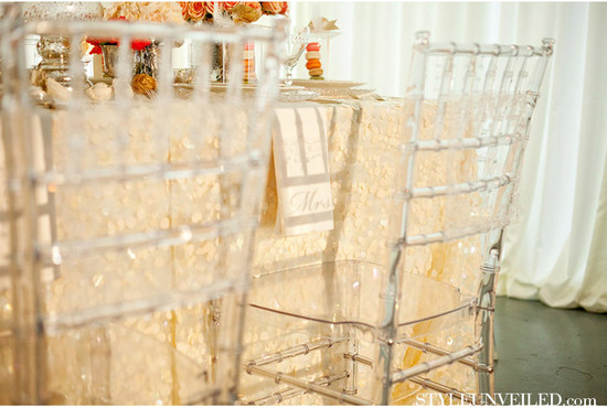 lucite wedding chairs elegant reception 1