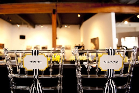 pretty wedding chairs creative ideas for the ceremony reception modern lucite black white yellow
