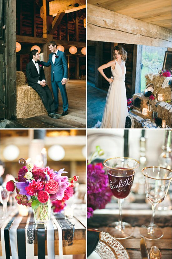 Rustic Luxe Wedding Theme Pink Flowers Barn Venue
