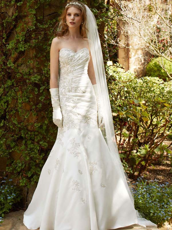 photo of wedding dress fall 2012 davids bridal wedding gown wg3477 v2