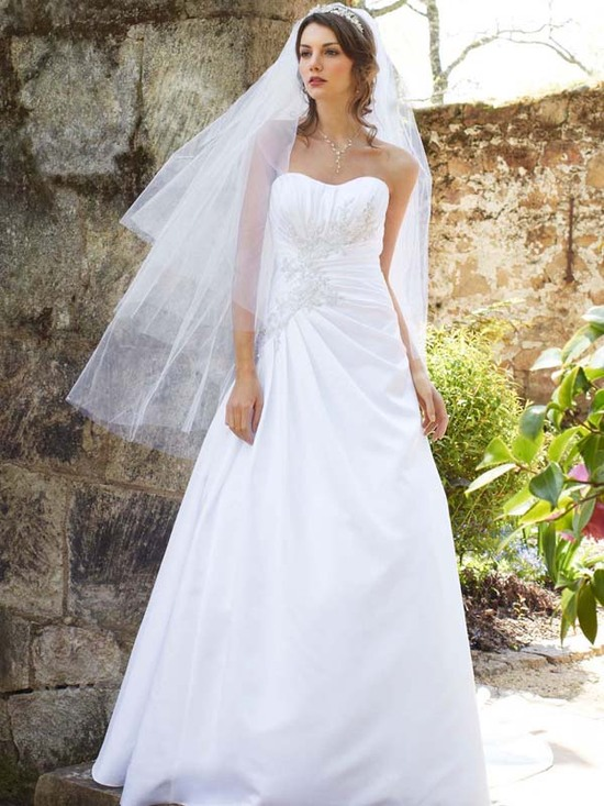 photo of wedding dress fall 2012 davids bridal wedding gown wg3464 v2