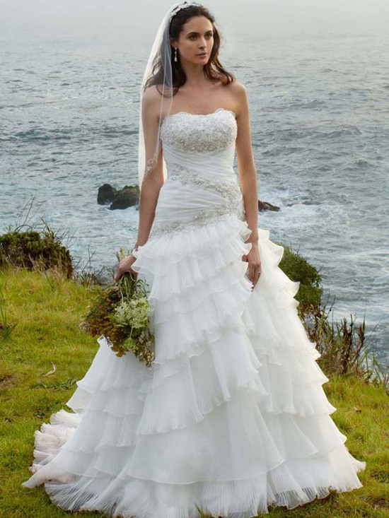 photo of wedding dress fall 2012 davids bridal wedding gown wg3453alt v2