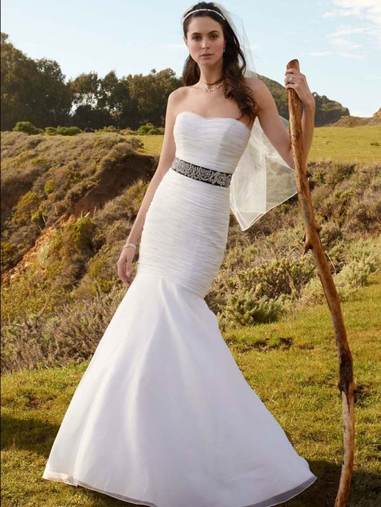 wedding dress fall 2012 davids bridal wedding gown t3418 v2