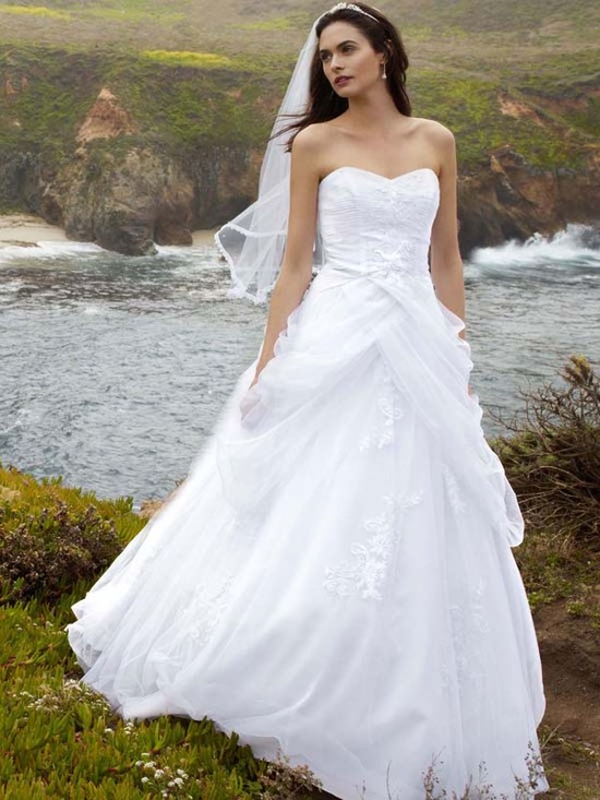 dwedding dress fall 2012 davids bridal wedding gown wg3403alt v2