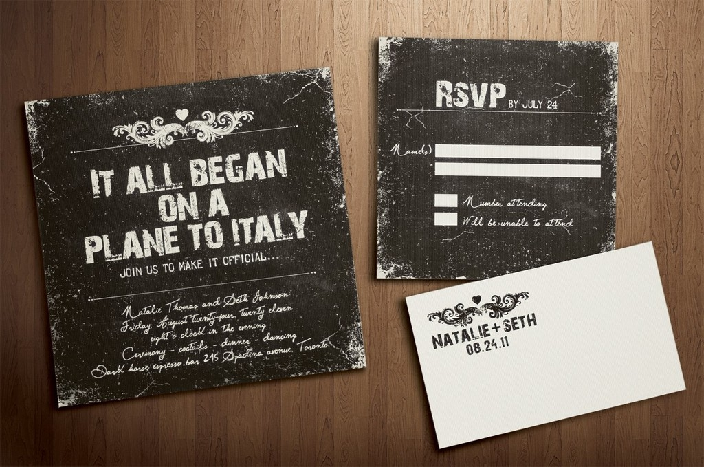 fun wedding finds on Etsy handmade weddings vintage invitation
