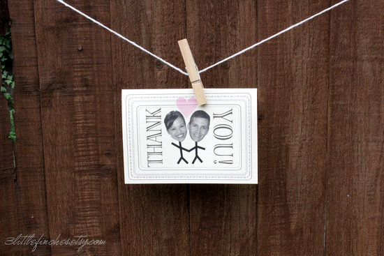 15 fun wedding finds on Etsy thank you cards