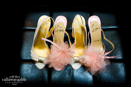 pink ivory gold wedding shoes