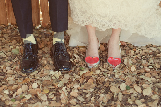wedding photography bride and groom shoes