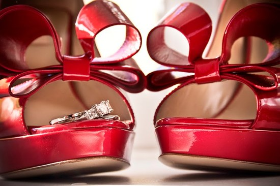 red patent leather wedding shoes