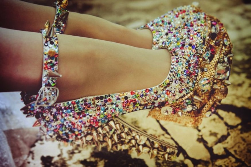 Bridal-accessories-glam-wedding-shoes-sparkly-rainbow-with-spikes.full
