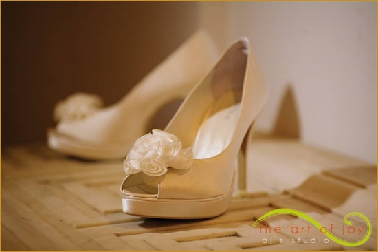 photo of covetable wedding accessories tuesday shoesday for brides ivory with rosettes