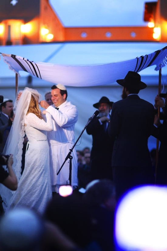 outdoor Jewish wedding ceremony chuppah