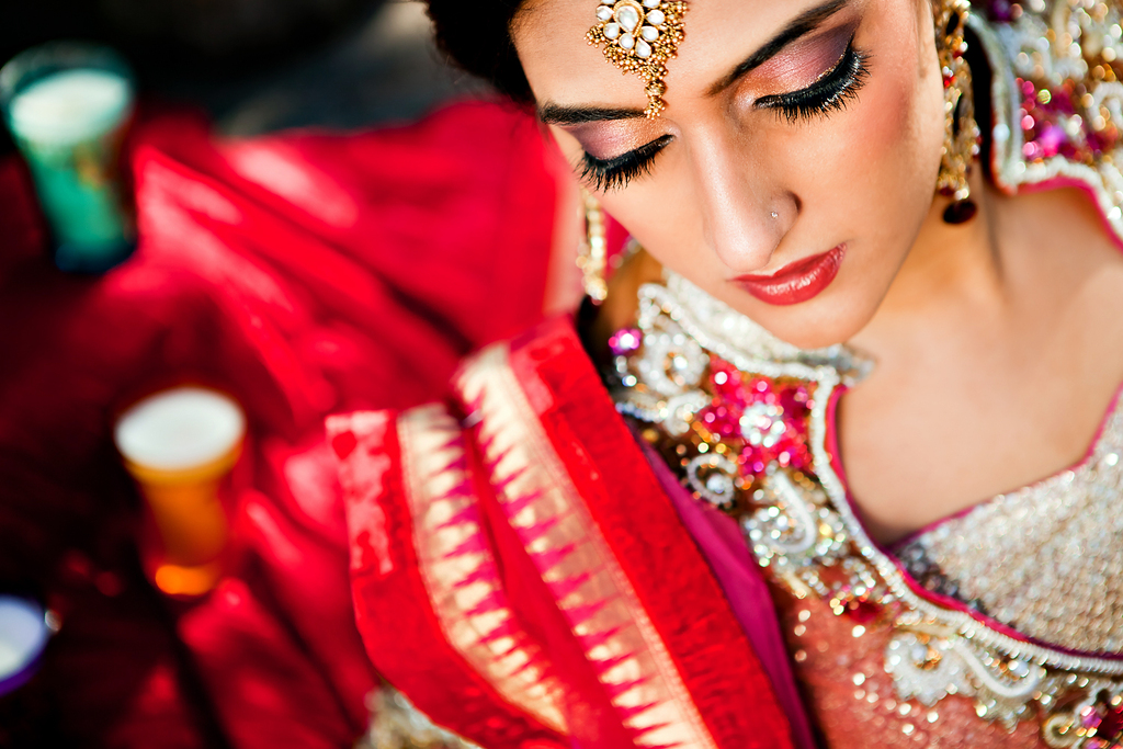 Wedding planning ideas incorporating culture. Indian bride makeup.