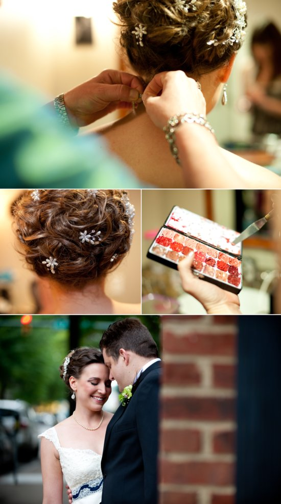 Scrabble themed wedding Virginia bridal updo