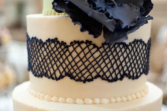 Richmond Virginia wedding cake details navy
