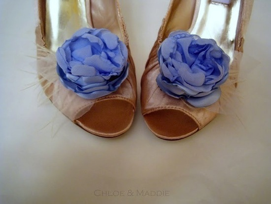 photo of Pretty Little Wedding Shoe Clips