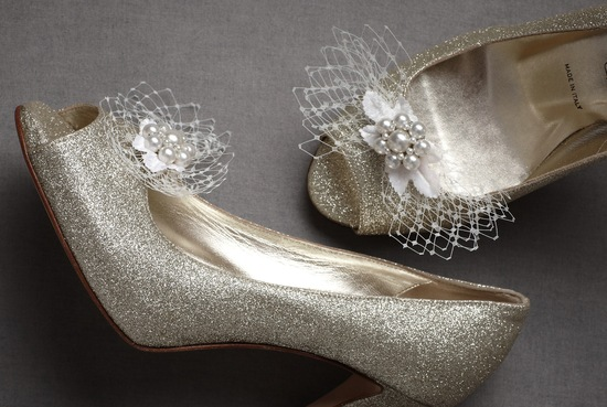 pretty little wedding shoe clips fun affordable bridal accessories BHLDN 1