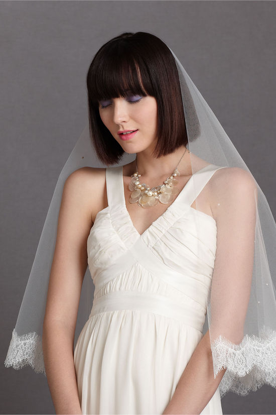 bhldn bridal veils mantilla style for romantic brides