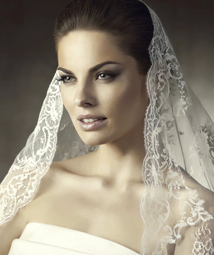 photo of Would You Top Off Your Wedding Day Look with a Romantic Mantilla Veil?