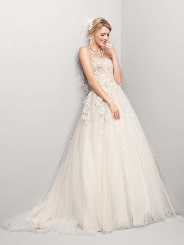 Wedding dress davids bridal spring 2012 oleg cassini for Oleg cassini champagne wedding dress