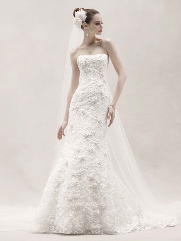 photo of wedding dress davids bridal spring 2012 oleg cassini bridal gown cwg464
