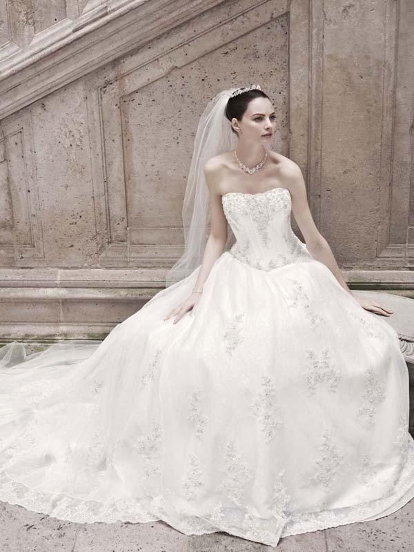 wedding dress davids bridal fall 2012 oleg cassini bridal gown cwg406
