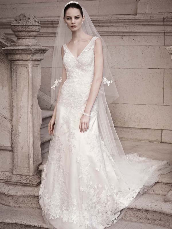 wedding dress davids bridal fall 2012 oleg cassini bridal gown cwg51