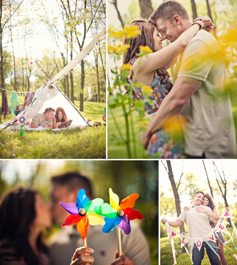 photo of Romantic Woodsy Engagement Shoot with a Handmade Touch
