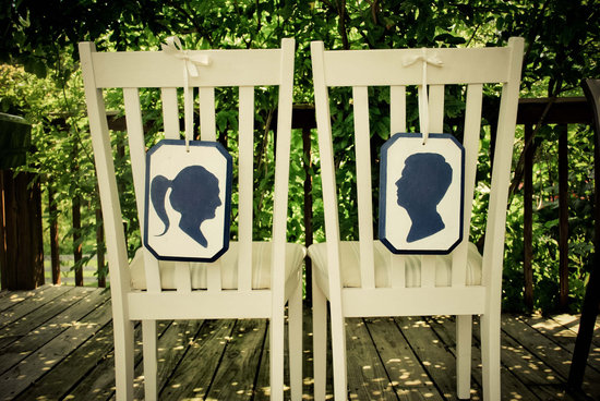 wedding inspiration decor details elegant themes silhouettes chair signs