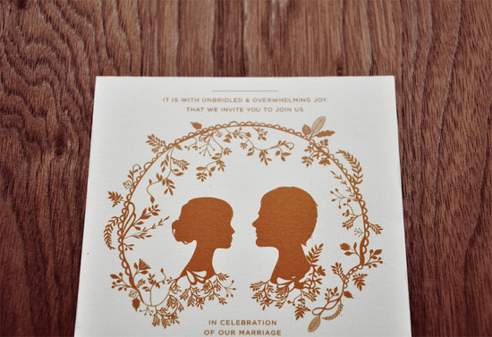 wedding inspiration decor details elegant themes silhouettes burnt orange white invitations