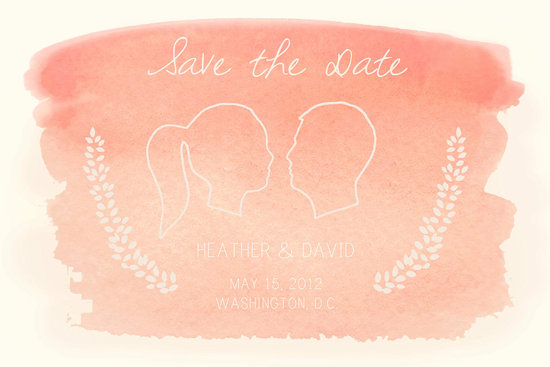 wedding inspiration decor details elegant themes silhouettes watercolor save the date