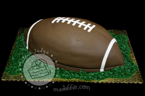 creative grooms cakes football