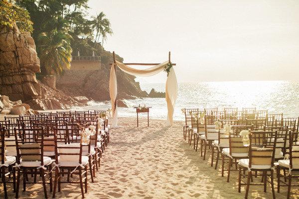 Beach Wedding Elegant Ceremony Setup