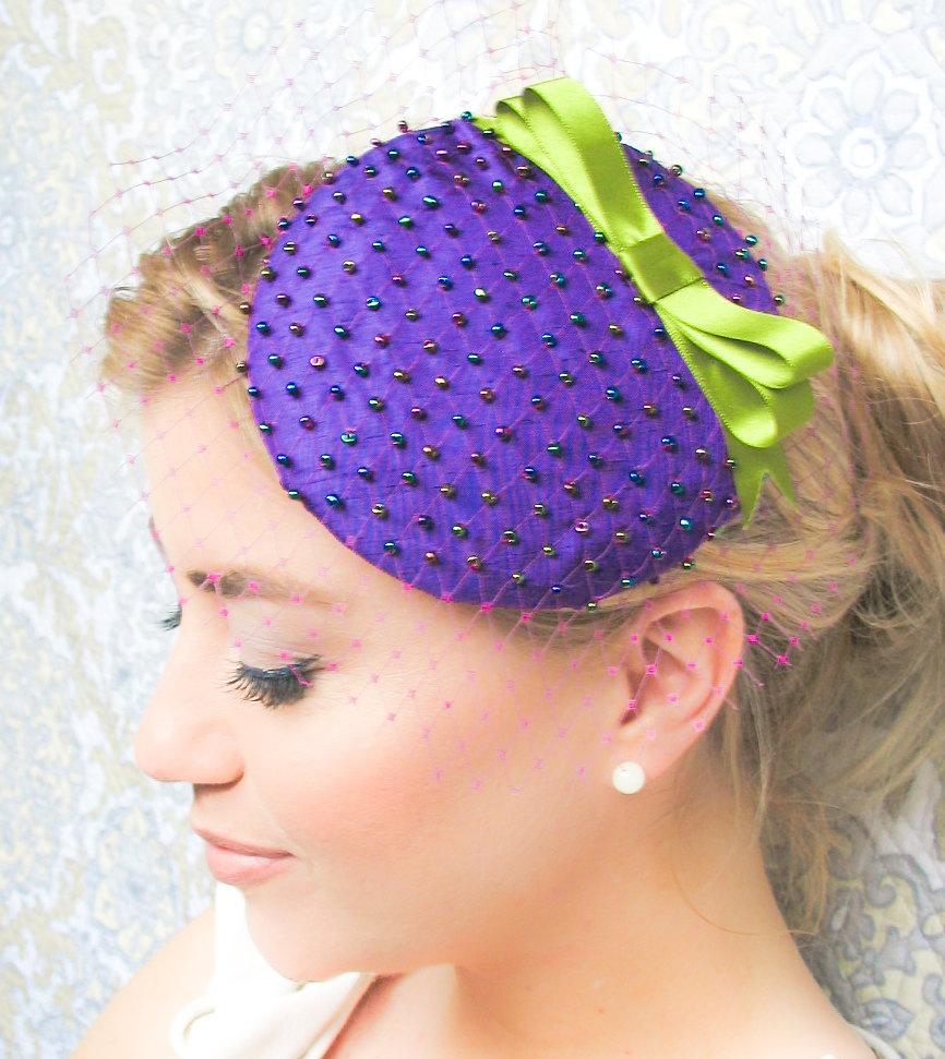 Purple-green-wedding-hat-for-bridesmaids.full