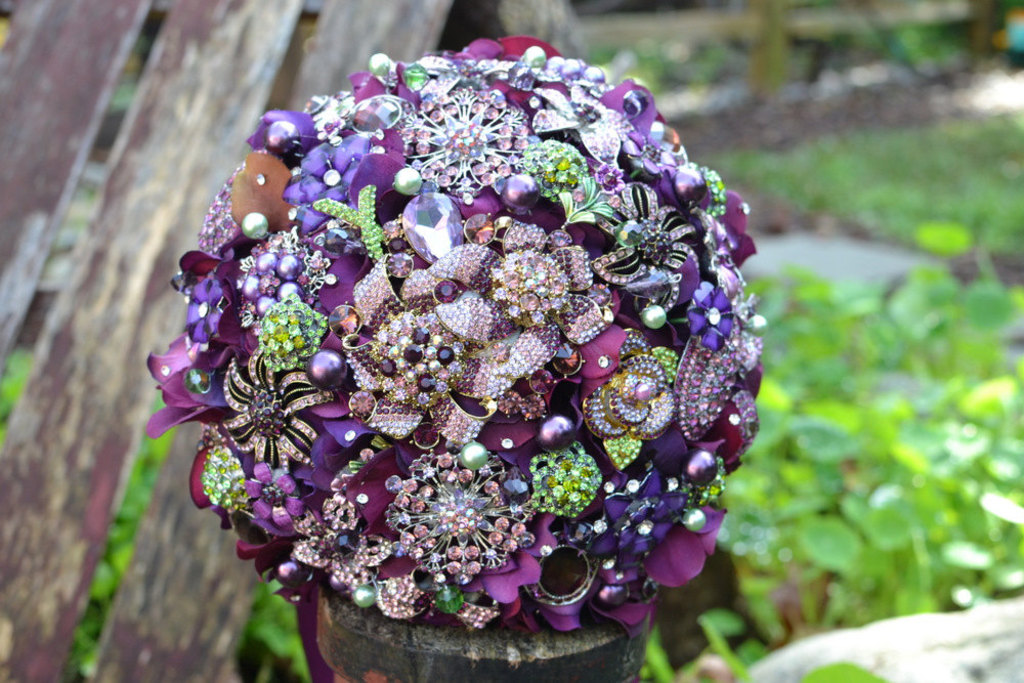 Stunning Purple And Green Wedding Color Palette With Vibrant Succulents Flowers