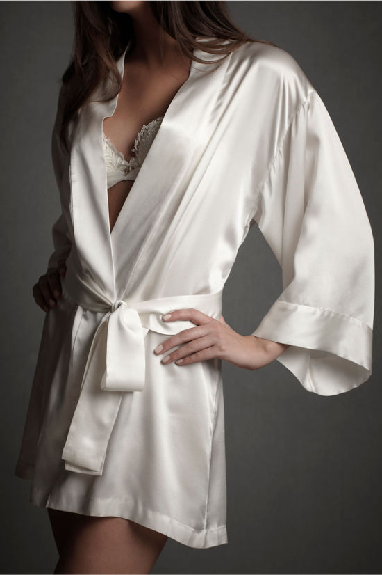 gifts for the bride silk robe BHLDN