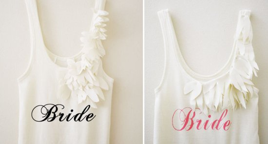 fun gifts for the bride embellished tank for getting ready