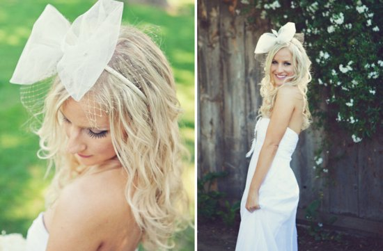 All down wedding hairstyles bridal beauty with bow
