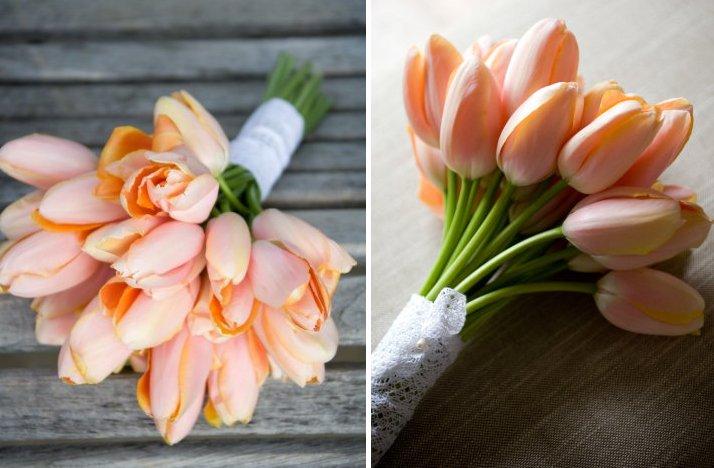 Gorgeous-wedding-flowers-monochromatic-bridal-bouquets-peach-tulips.full