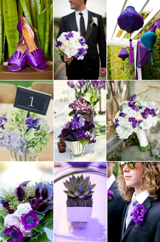 purple and green wedding inspiration spring summer wedding flowers
