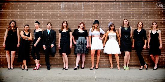 photo of Amy, Deann and Their Badass Bridesmaids
