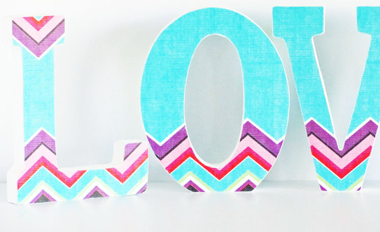 chevron wedding sign turquoise purple red 1