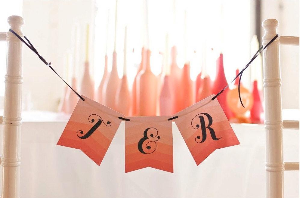 Chevron-ombre-wedding-sign-coral-peach.full