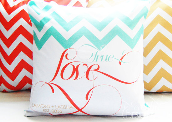 chevron wedding inspiration decorative pillows for reception lounge