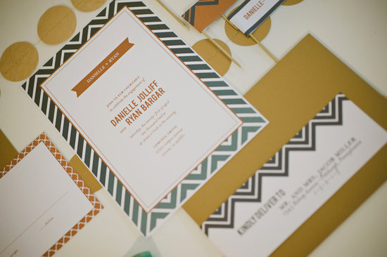chevron wedding inspiration wedding decor details for the reception rehearsal dinner invitation