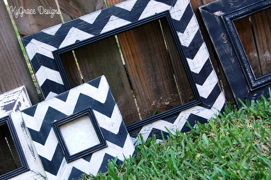 chevron wedding inspiration wedding decor details for the reception navy white frames