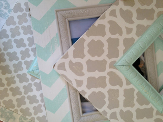 chevron wedding inspiration wedding decor details for the reception aqua gray frames