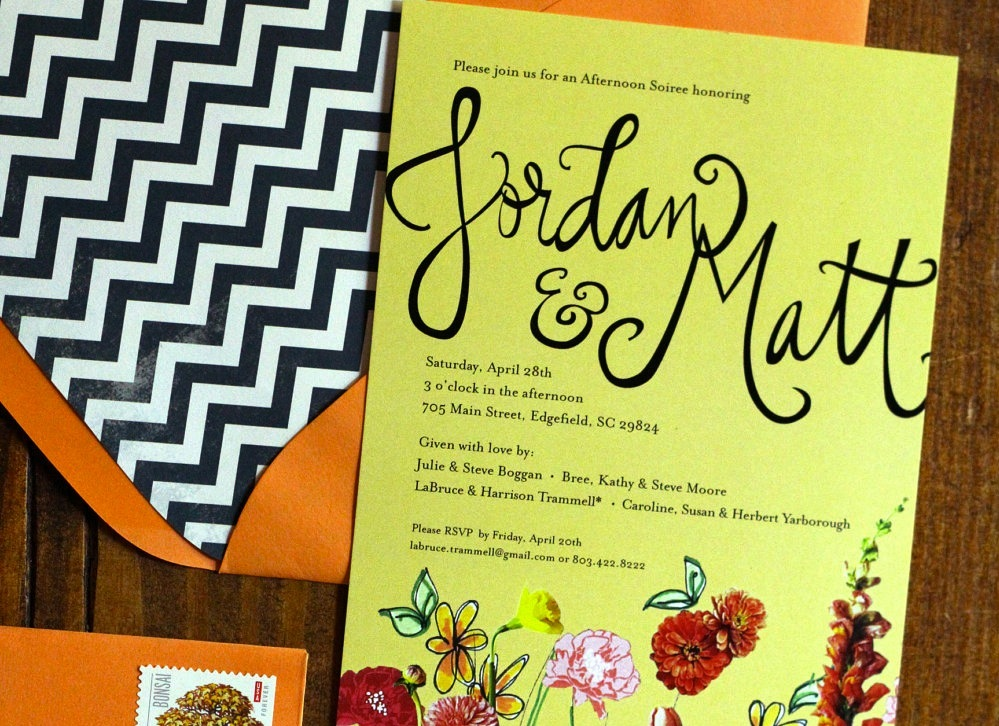chevron wedding stationery envelope liners