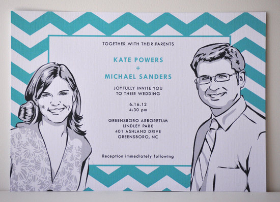 chevron wedding inspiration wedding decor details for the reception illustrated invitation